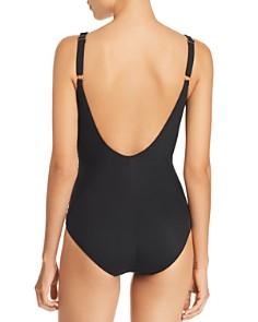Gottex - Lattice Geometric Neck One Piece Swimsuit