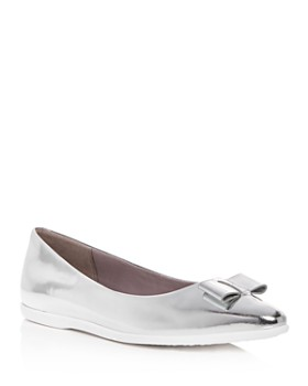 Cole Haan - Women's 3.ZeroGrand Leather Pointed Toe Ballet Flats