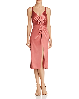 Jill Jill Stuart Satin Twist-Front Dress