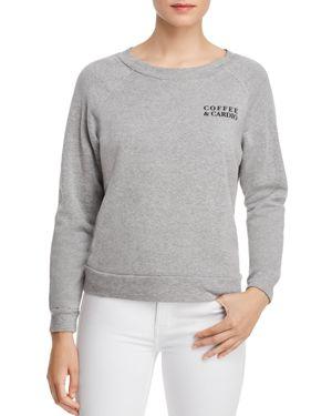 PROJECT SOCIAL T Coffee/Wine Reversible Sweatshirt in Heather Grey
