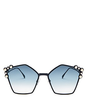 Fendi - Women's Embellished Square Sunglasses, 57mm