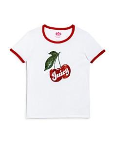 Juicy Couture Black Label Girls' Cherry Graphic Ringer Tee - Big Kid - Bloomingdale's_0