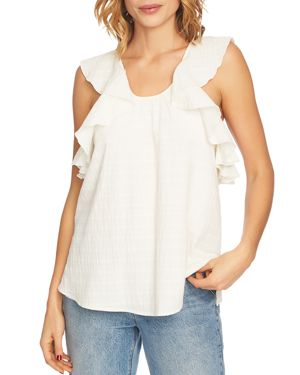 1.state Crossover Back Ruffle Top