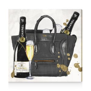 Oliver Gal I Brought The Champagne Canvas Art, 12 x 12