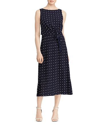 Ralph Lauren - Sleeveless Dot-Print Dress