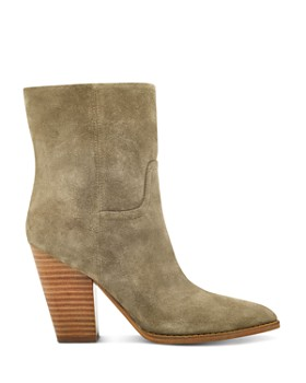 Marc Fisher LTD. - Women's Devin Pointed Toe Suede High-Heel Western Booties