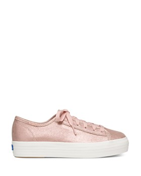 Keds - Women's Triple Kick Metallic Suede Lace Up Sneakers