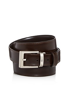 Montblanc - Men's Palladium Square Buckle Reversible Leather Belt