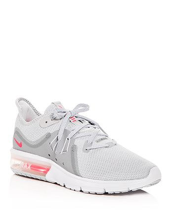 hot sale online 03cf5 d24a2 Nike - Women s Air Max Sequent 3 Knit Lace Up Sneakers