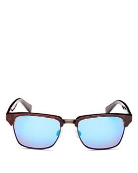 Maui Jim - Men's Kawika Polarized Mirrored Square Sunglasses, 54mm
