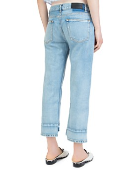 The Kooples - Nory Step-Hem Jeans in Light Blue