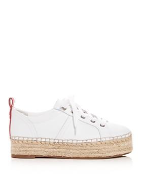Sam Edelman - Women's Carleigh Leather Platform Espadrille Sneakers