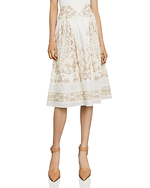 Bcbgmaxazria Embroidered Midi Skirt