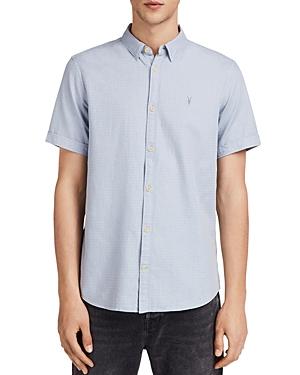 New Allsaints Sanborn Short Sleeve Sport Shirt, Blue