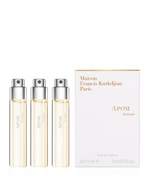 MAISON FRANCIS KURKDJIAN Apom Homme Eau De Toillete Travel Spray Refills, 3 X 0.37 Oz./ 11 Ml
