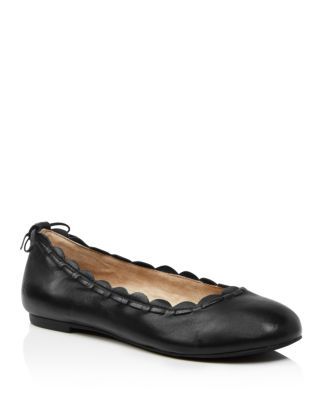 Women's Lucie Ii Scalloped Leather Ballet Flats by Jack Rogers