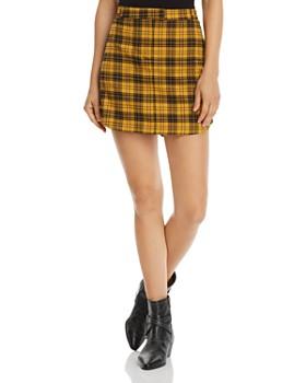 BB DAKOTA - I Totally Paused Plaid Skirt