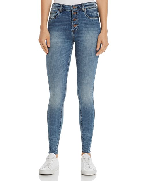 BLANKNYC - High-Rise Raw-Edge Skinny Jeans in Noho - 100% Exclusive