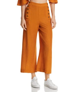 THE EAST ORDER TEXTURED CROPPED SAILOR PANTS