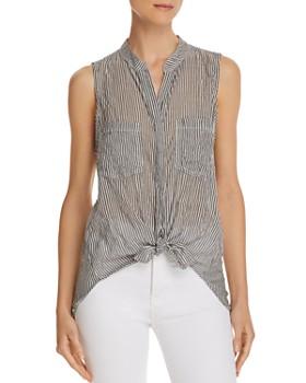 Bella Dahl - Tie-Front Sleeveless Striped Top