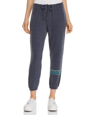 CHASER LOVE CROPPED SWEATPANTS