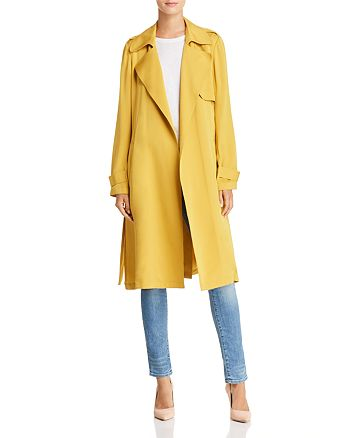 45f0f62310 Theory Oaklane Silk Trench Coat | Bloomingdale's