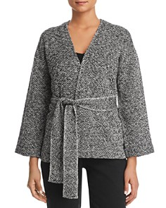 Eileen Fisher Petites - Belted Organic-Cotton Jacket