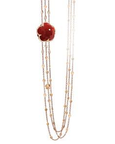 "Pasquale Bruni 18K Rose Gold Bon Ton Diamond & Carnelian Multi Strand Necklace, 39.5"" - Bloomingdale's_0"