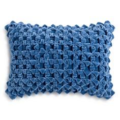 "Sky Textured Velvet Decorative Pillow, 14"" x 20"" - 100% Exclusive - Bloomingdale's_0"
