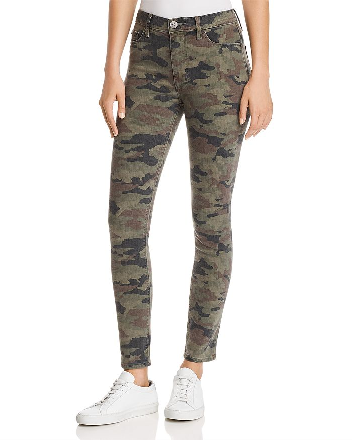 Hudson - Barbara High Rise Ankle Skinny Jeans in Deployed Camo