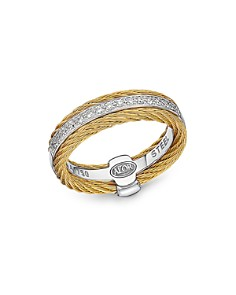 Alor Diamond Two-Tone Cable Ring - Bloomingdale's_0