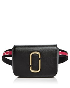 MARC JACOBS - Hip Shot Leather Convertible Belt Bag