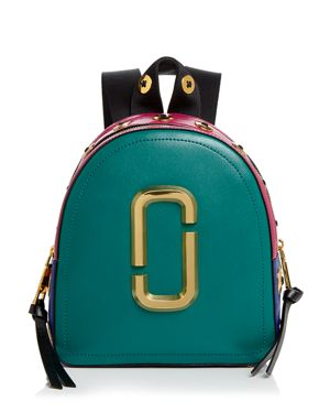 Pack Shot Buttons Leather Backpack - Green, Arugula Multi/Gold