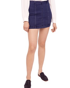 Free People - Modern Femme Denim Mini Skirt