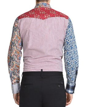 DSQUARED2 - Printed Patchwork Regular Fit Western Shirt