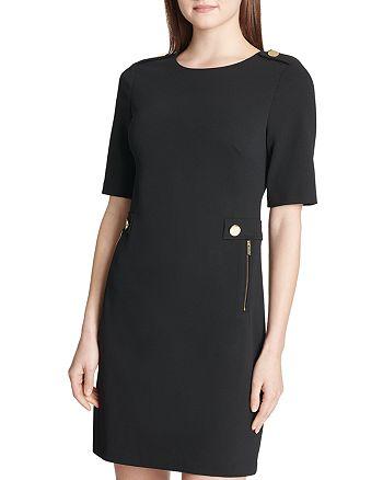 Calvin Klein - Embellished Ponte Sheath Dress