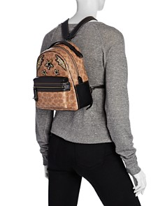 COACH - Rainbow Stud & Crystal Embellished Signature Coated Canvas Campus Backpack 23 - 100% Exclusive