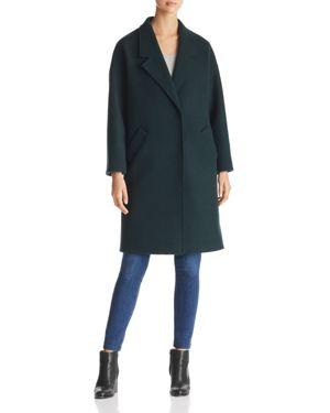KENDALL AND KYLIE Drop Shoulder Midi Coat in Jade
