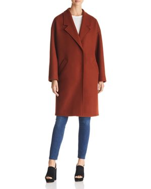 KENDALL AND KYLIE Drop Shoulder Midi Coat in Cinnamon
