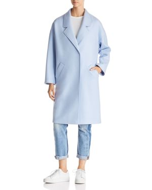 KENDALL AND KYLIE Drop Shoulder Midi Coat in Ice Blue