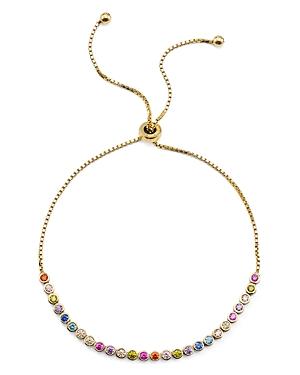Multicolor Stone Sterling Silver Slider Bracelet