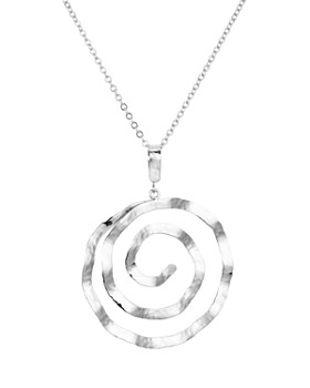"""Bloomingdale's - Hammered Spiral Pendant Necklace, 17"""" - 100% Exclusive"""