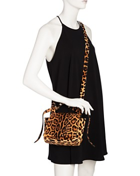 ELENA GHISELLINI - Small Leopard Print Calf Hair Crossbody