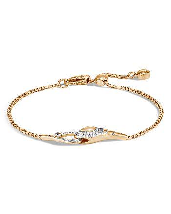 JOHN HARDY - 18K Yellow Gold Legends Cobra Diamond Pavé Pull Chain Bracelet - 100% Exclusive