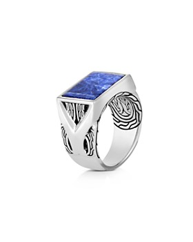 John Hardy - Sterling Silver Classic Chain Sodalite Signet Ring