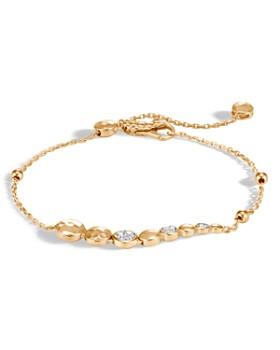 John Hardy - 18K Yellow Gold Dot Hammered Pavé Diamond Pull Chain Bracelet