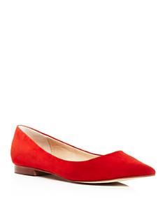 AQUA - Women's Abel Suede Pointed Toe Flats - 100% Exclusive