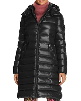 moncler black shiny coat