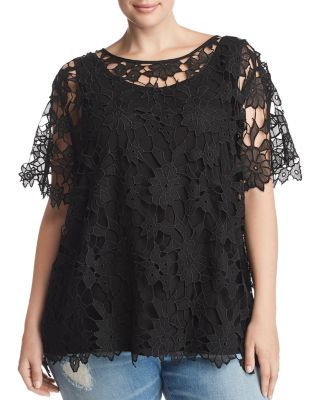 Crochet Lace Top   100% Exclusive by Love Scarlett Plus