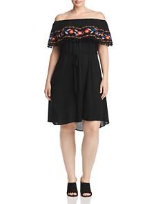 Estelle Plus - Bahama Breeze Off-the-Shoulder Dress